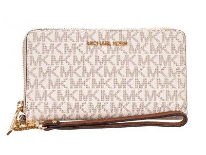 MK177 Michael Kors dámská peněženka s monogramy MK krémová (1)