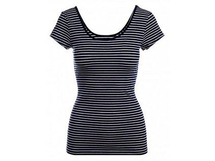 GAP dámské tričko bílo černé pruhy