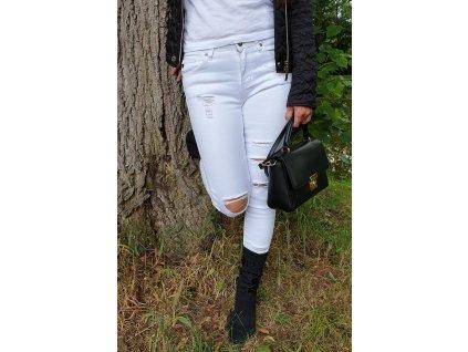 KanCan Sharon Athena Bílé Skinny Jeans džíny
