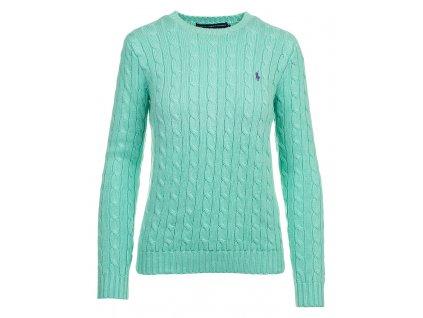 RL41 Ralph Lauren dámský svetr tyrkysový (1)
