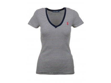 RL58 Ralph Lauren dámské tričko modrobílé (1)