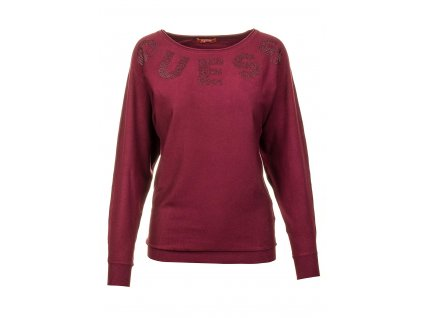 GU230 Guess dámský svetr vínový (1)