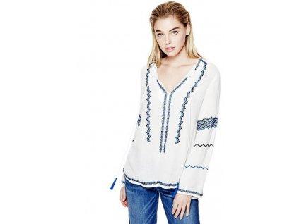 GU170 Guess dámská tunika s dlouhým rukávem bílá (1)