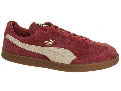 Puma pánské tenisky červené z broušené kůže