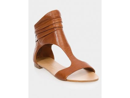 Guess by Marciano sandály Turquoise Ankle Cuff kožené hnědé