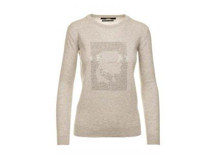 Karl Lagerfeld dámský svetr šedý