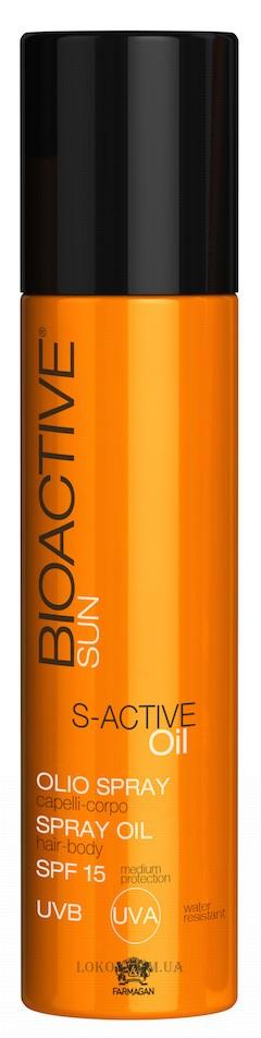 Farmagan Bioactive S-Active Oil sprej na vlasy SPF 15 250 ml