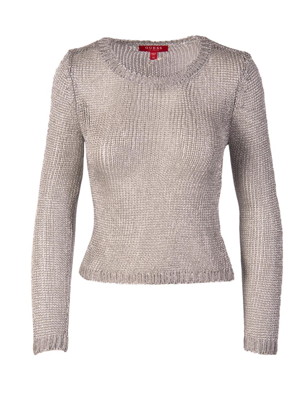Guess dámský svetr stříbrný průhledný Velikost: XS