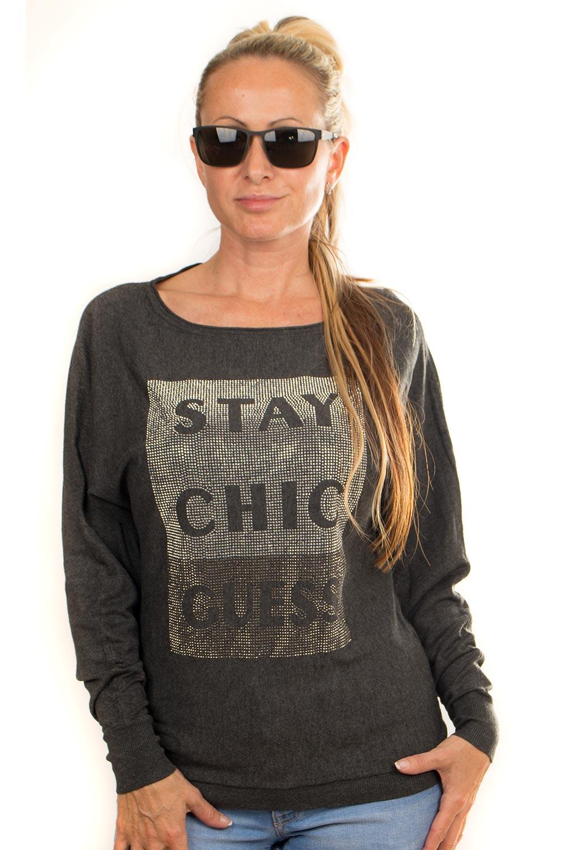 Guess dámský svetr žíhaný šedý Velikost: S