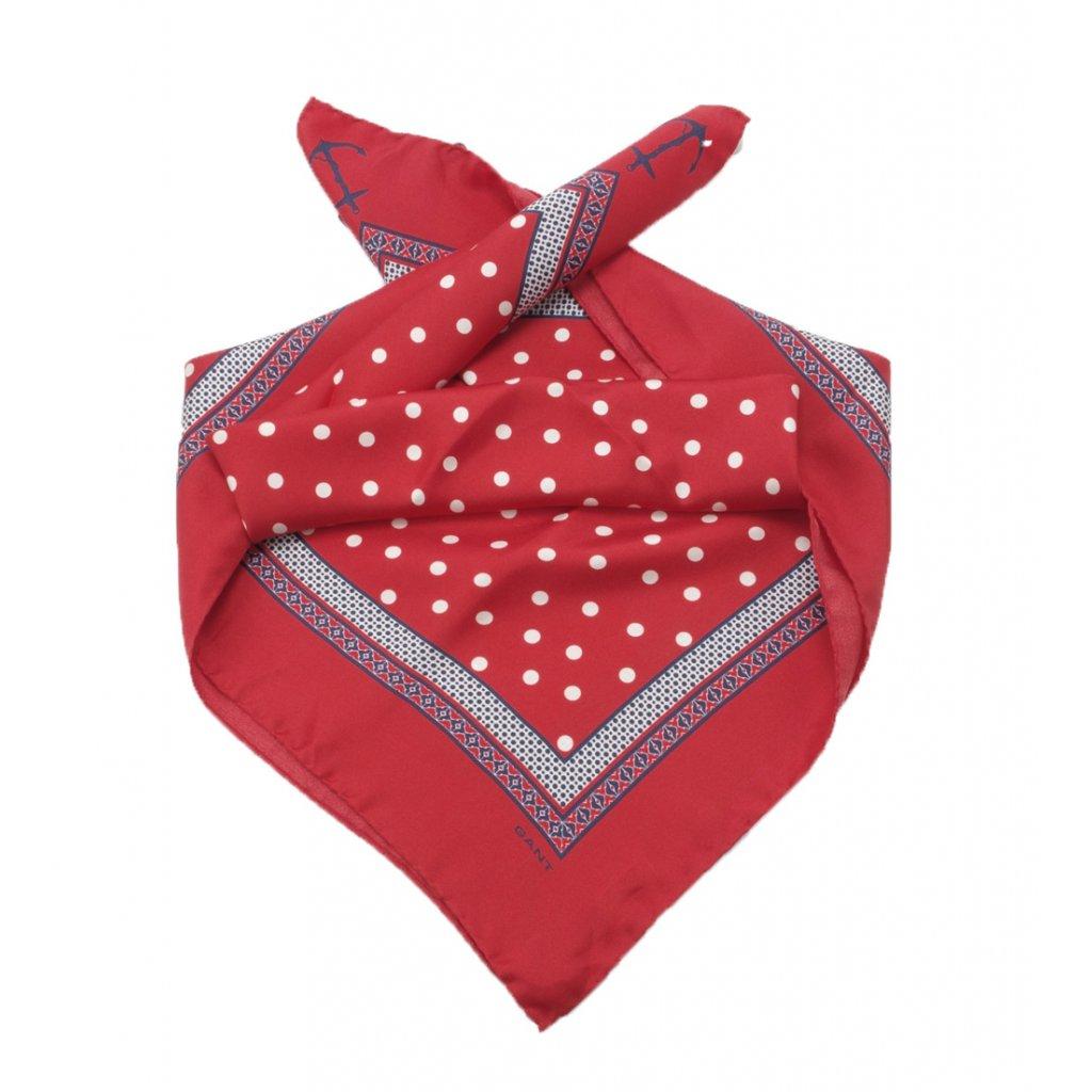 Gant velký hedvábný šátek riviera dot - Fashion Center 81139f0c85
