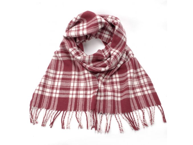 Gant šála Check woven red scarf