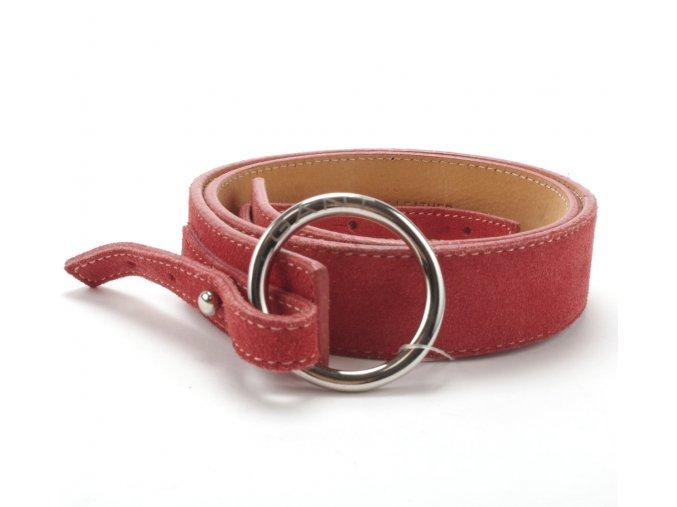 Gant kožený pásek red