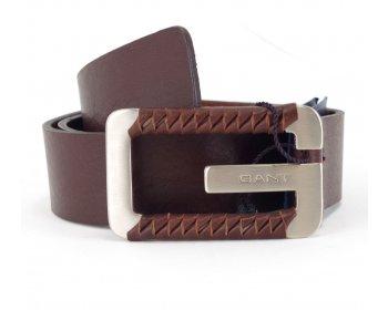 Gant kožený pásek se sponou s logem