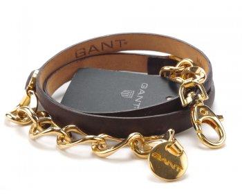 Gant kožený pásek dark chocolate