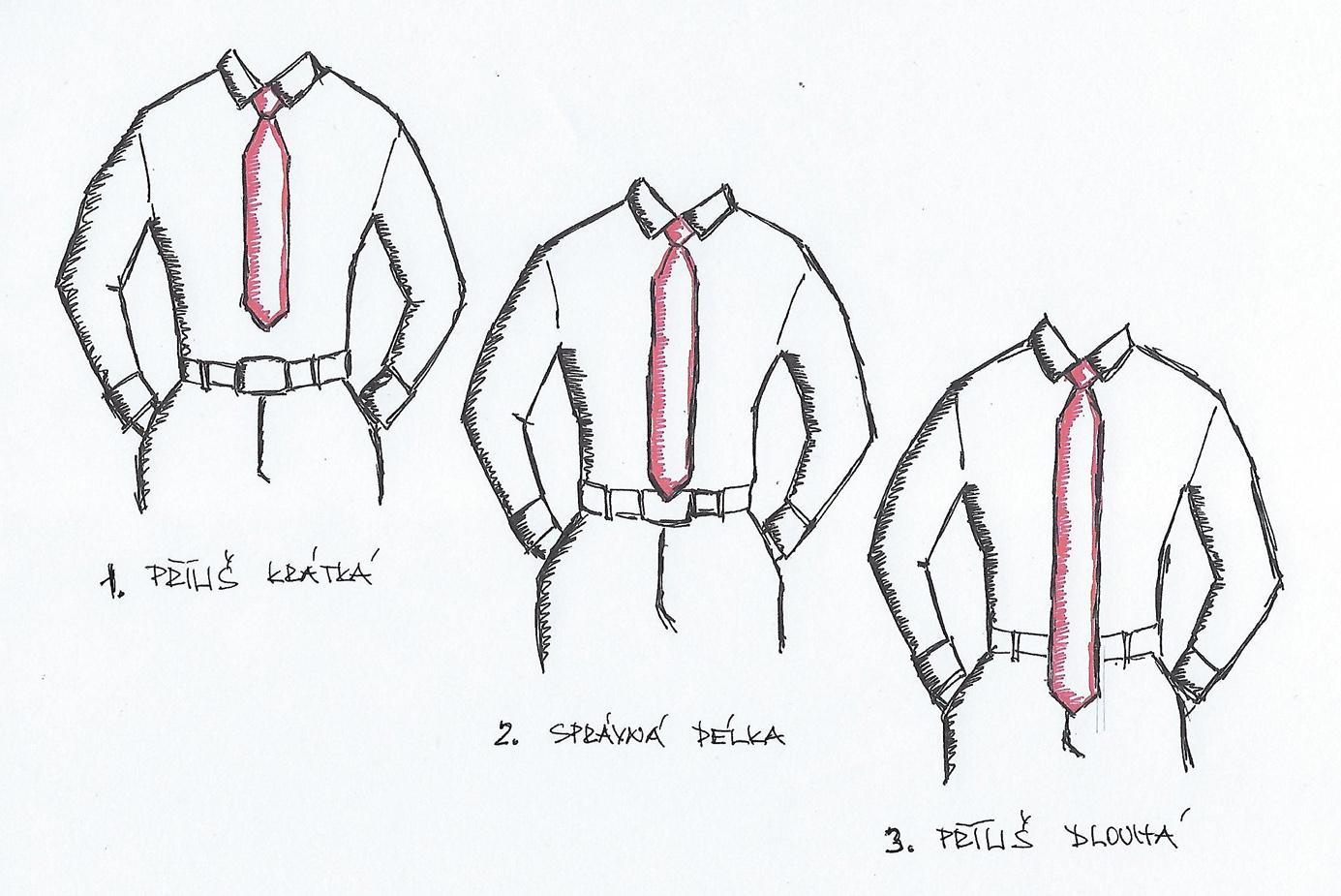 Délka kravaty