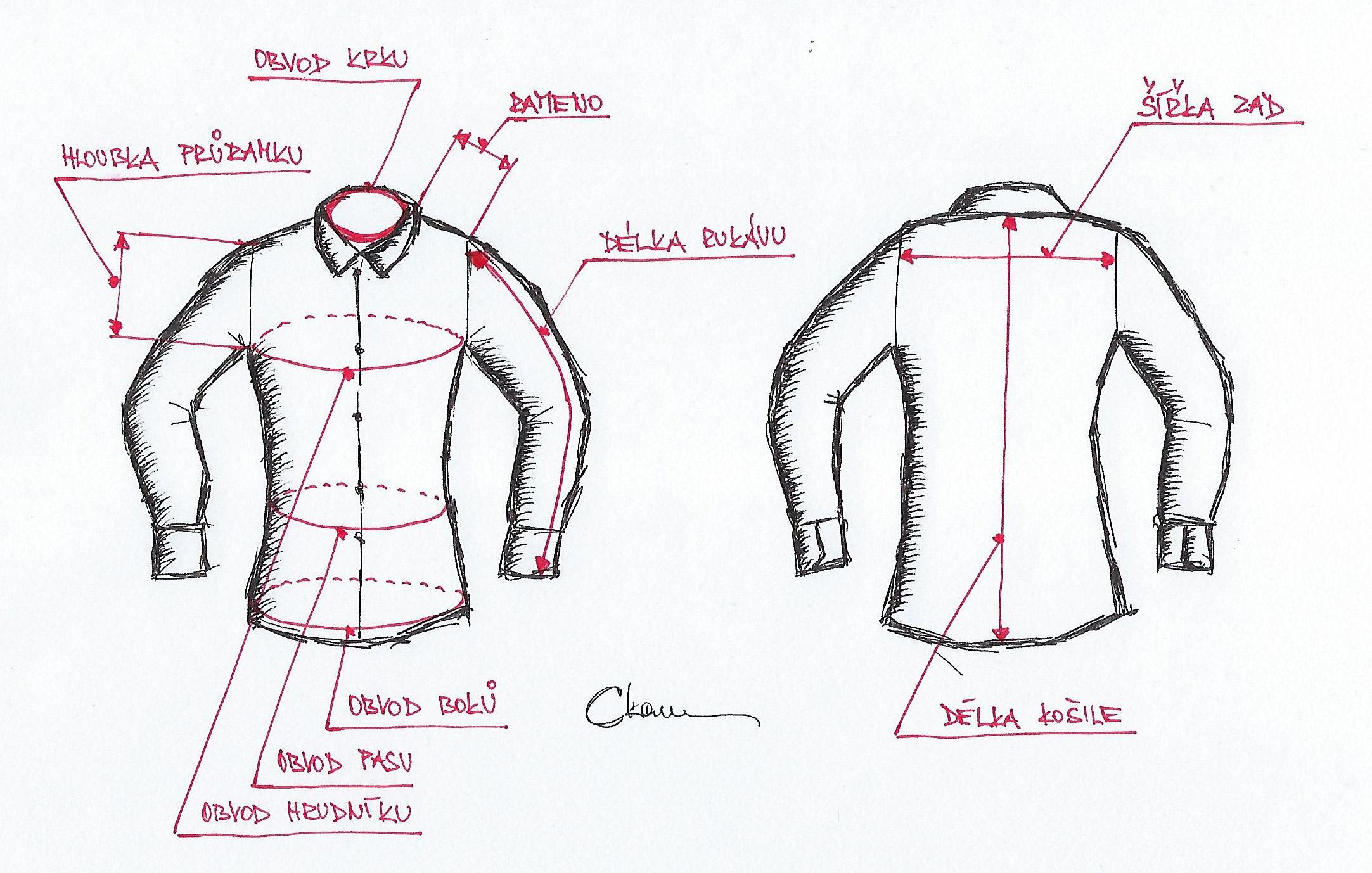 Jak změřit velikost pánské košile?