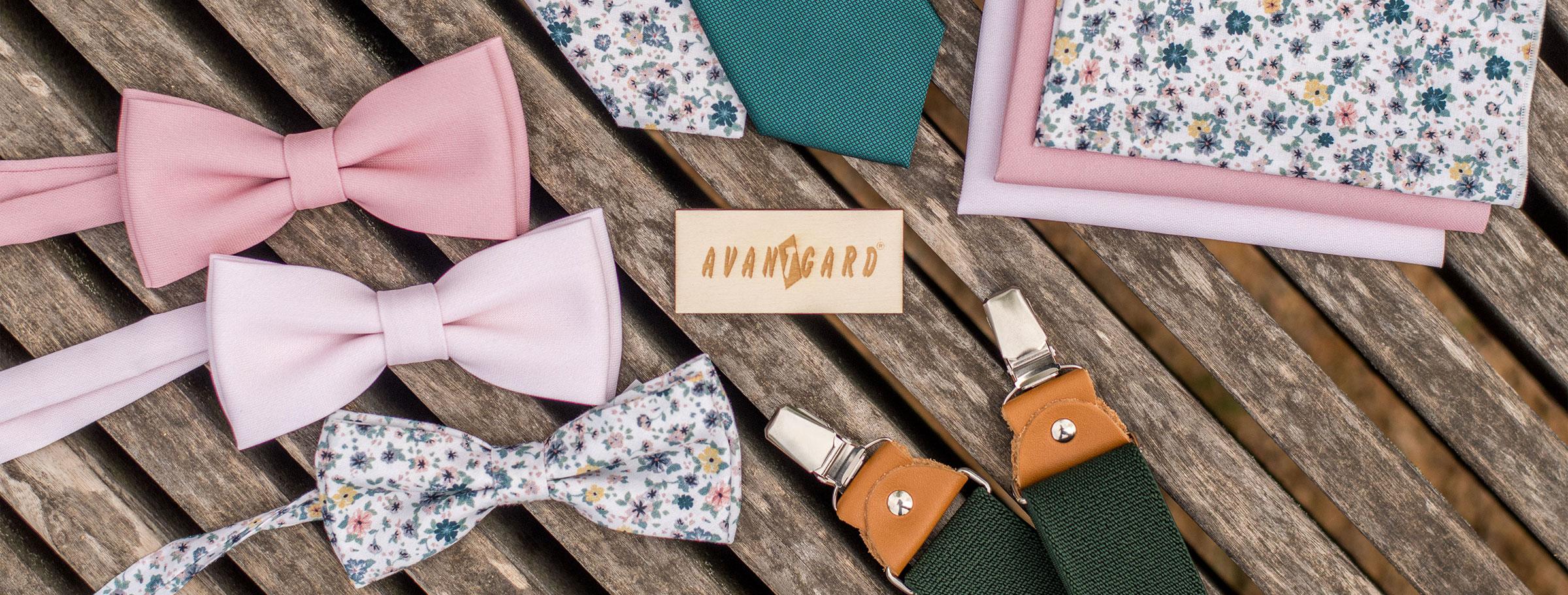 Kolekce 2021 - motýlky, kravaty, kapesníčky a kšandy
