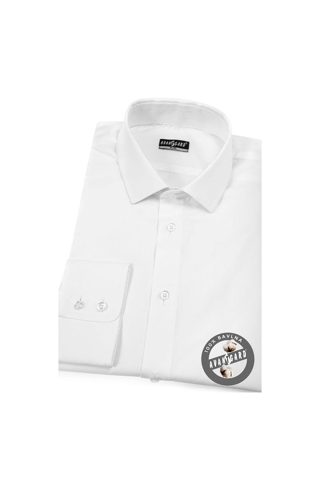 Pánská košile SLIM bílá 109 - 1