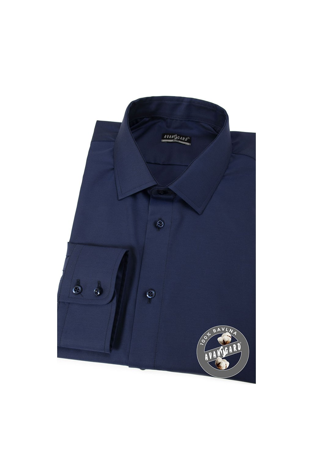 Pánská košile SLIM modrá 109 - 5508