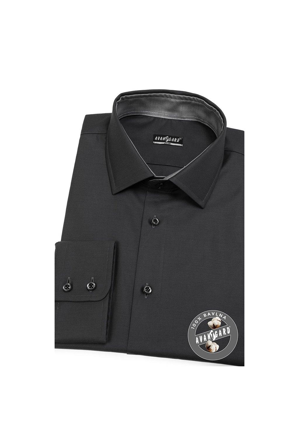 Pánská košile SLIM šedá 109 - 6923