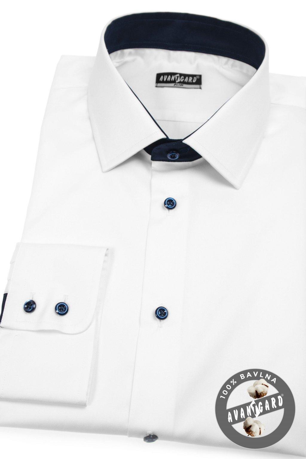Pánská košile SLIM bílá 109 - 9131