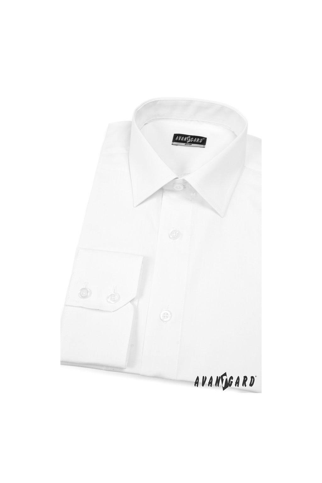 Pánská košile SLIM bílá 114 - 1