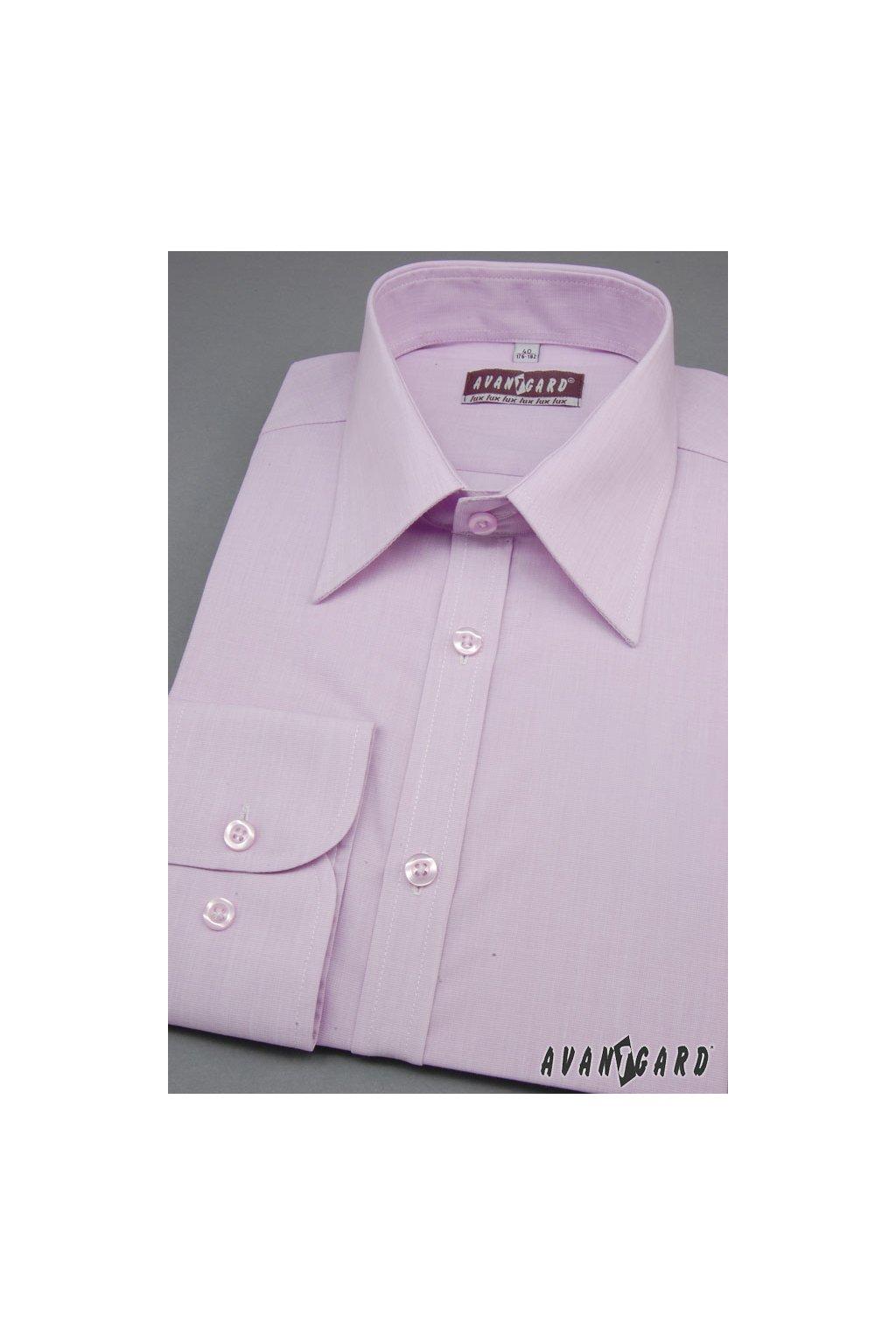 Pánská košile SLIM lila 117 - 1728