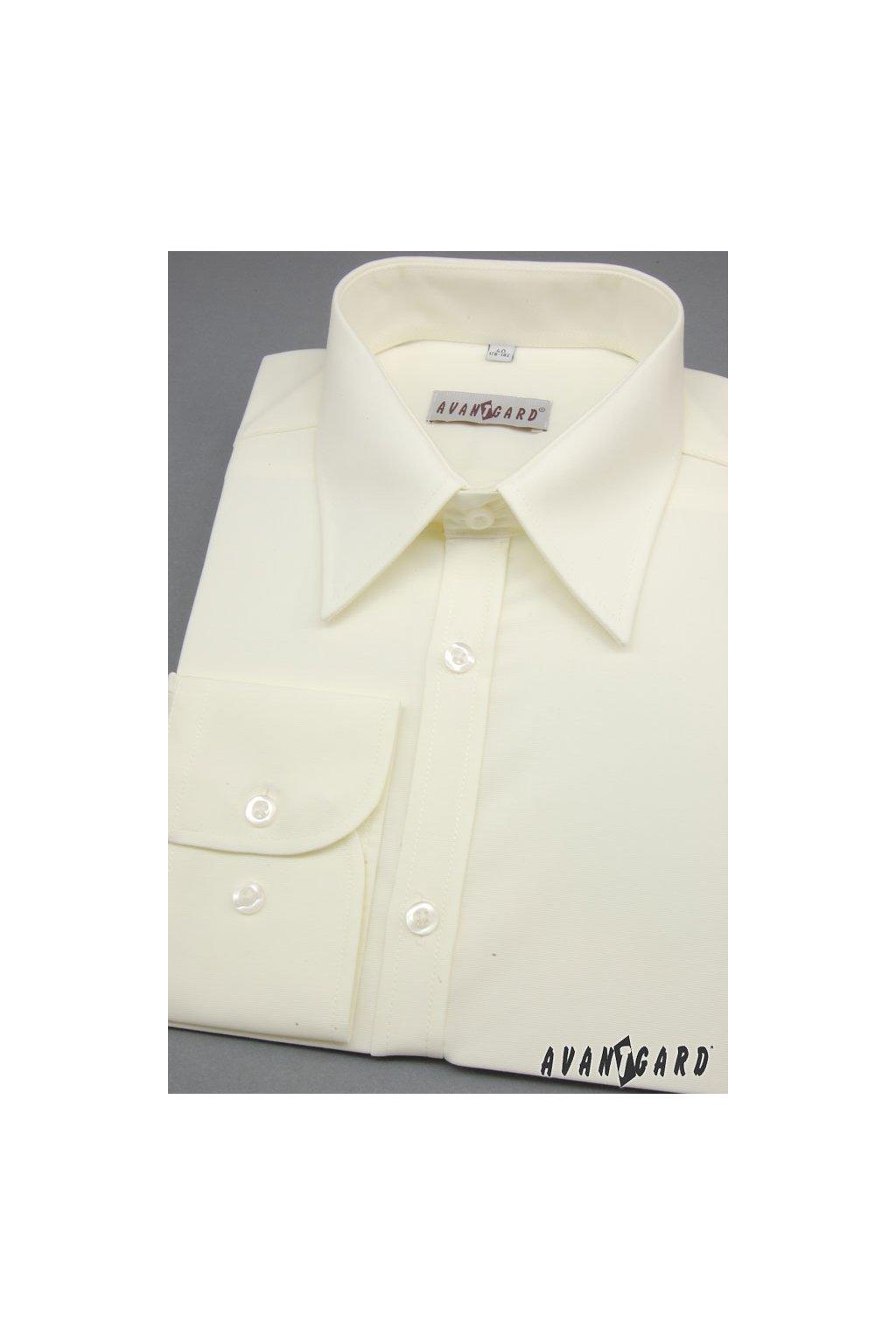 Pánská košile SLIM smetanová 117 - 2