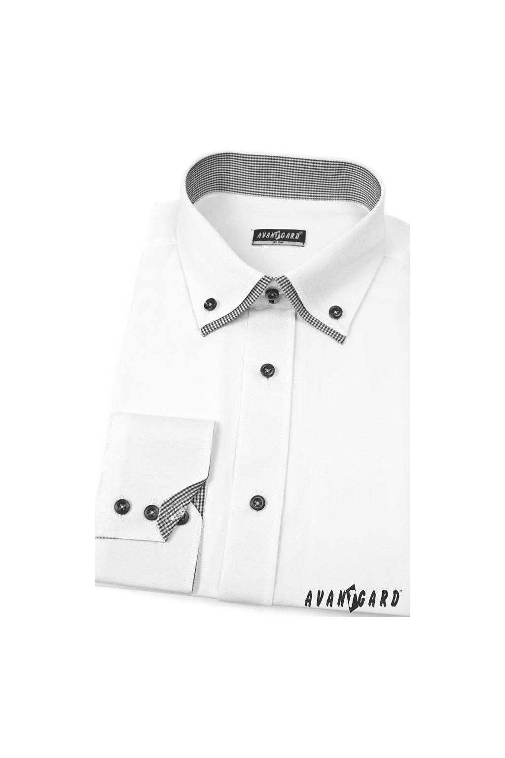 Pánská košile SLIM bílá 120 - 0122