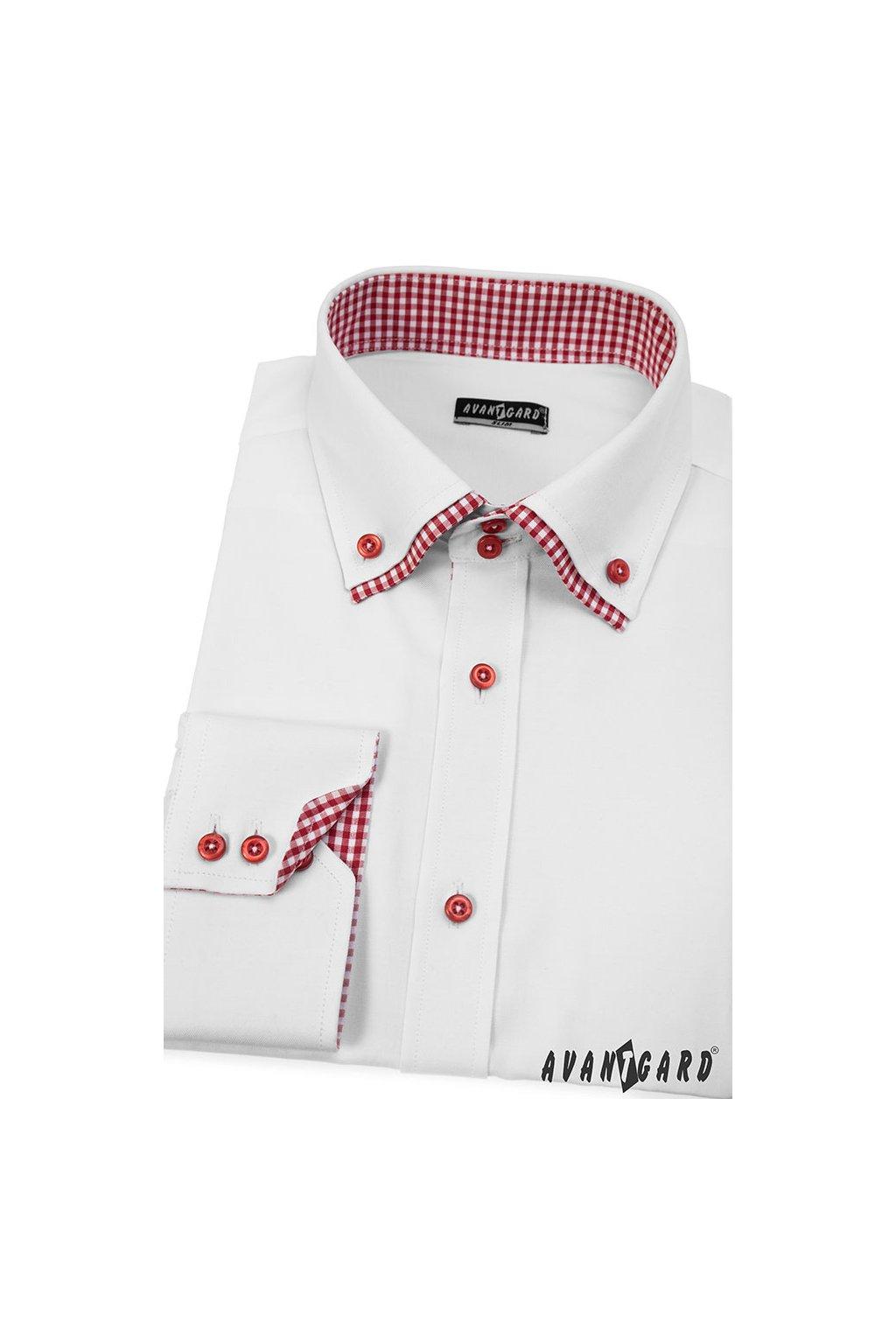 Pánská košile SLIM bílá 120 - 0172