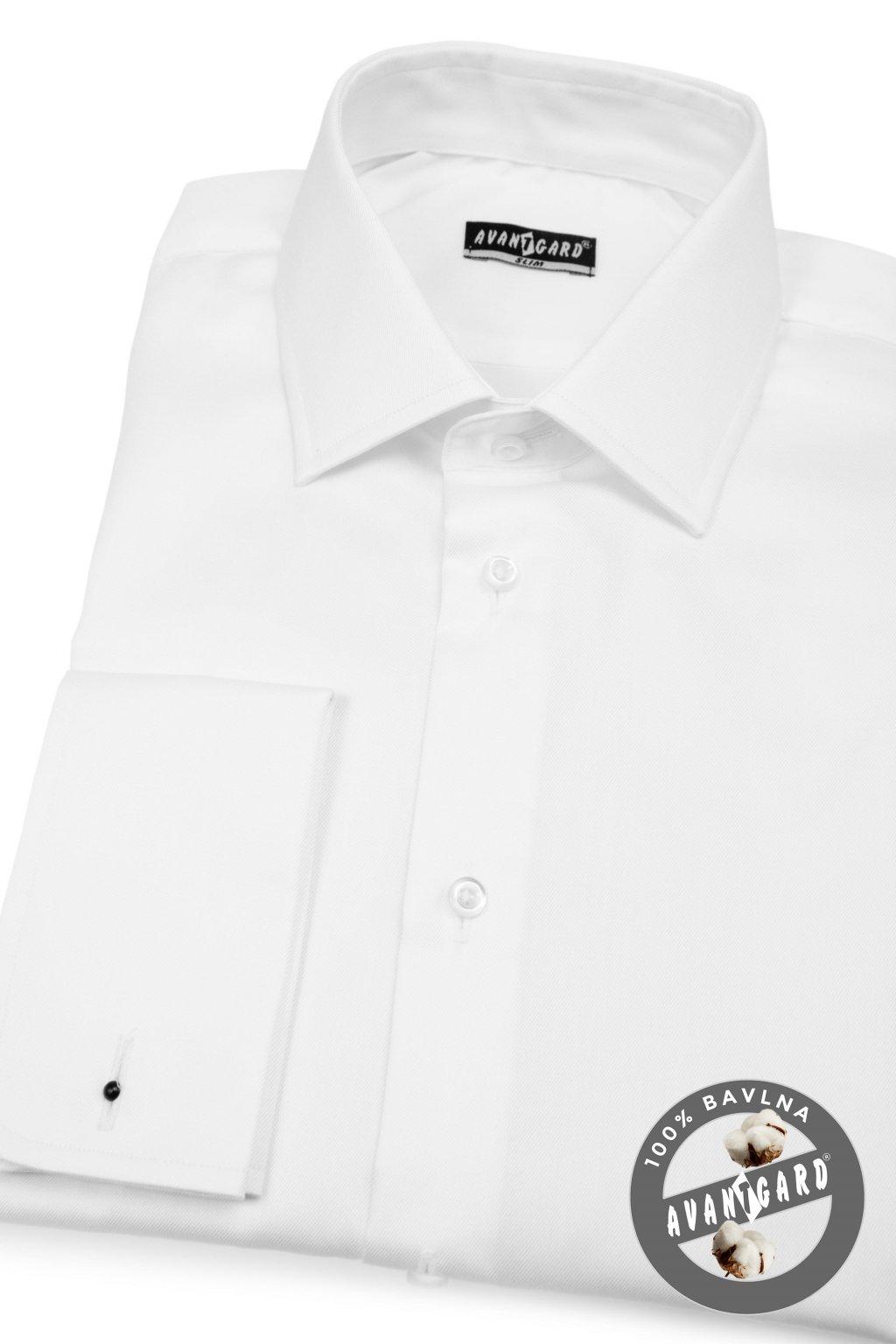 Pánská košile SLIM MK bílá 122 - 1
