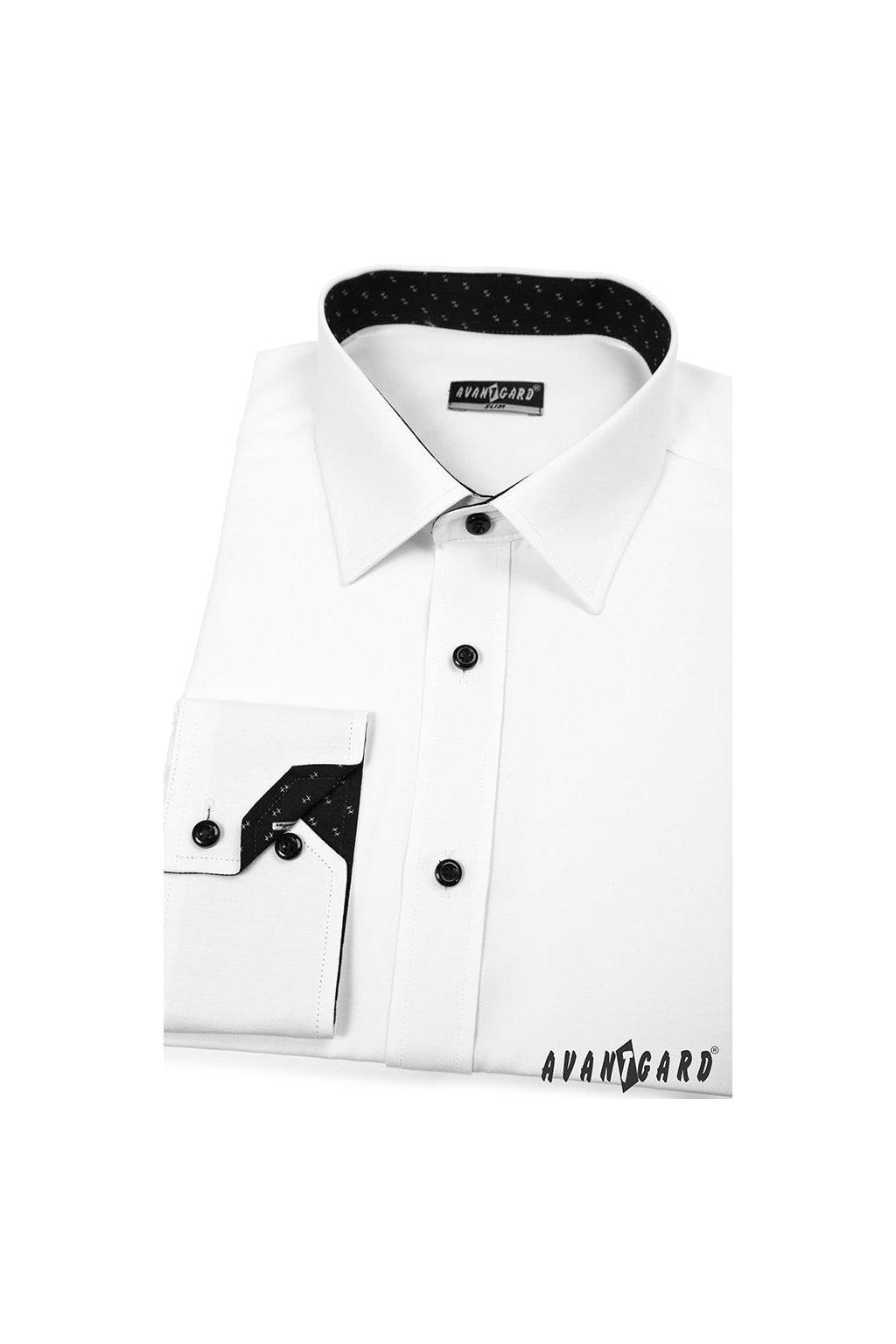 Pánská košile SLIM bílá 125 - 0120