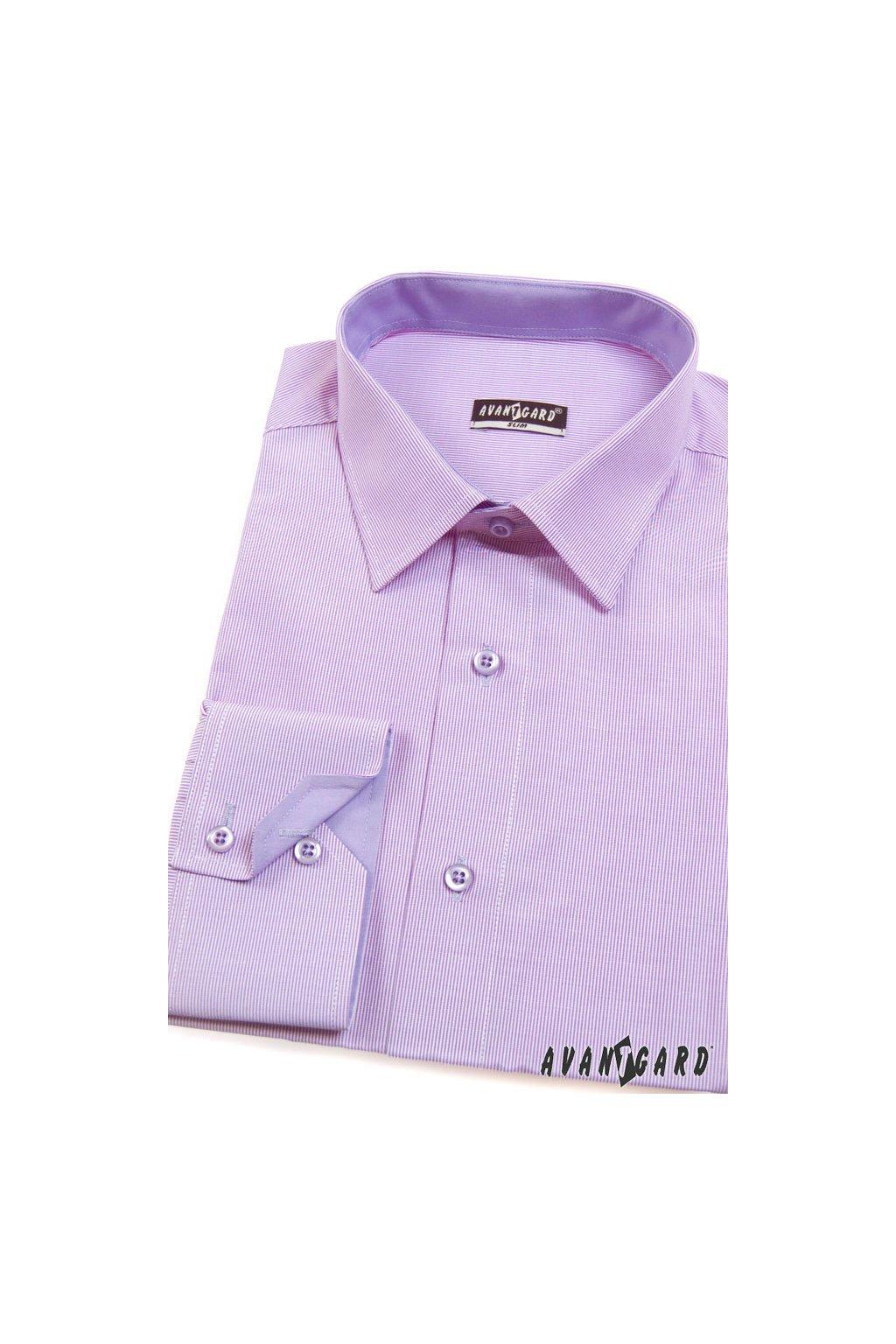 Pánská košile SLIM fialová 125 - 706