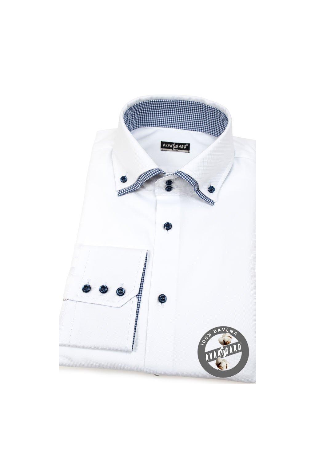 Pánská košile SLIM bílá 130 - 0116