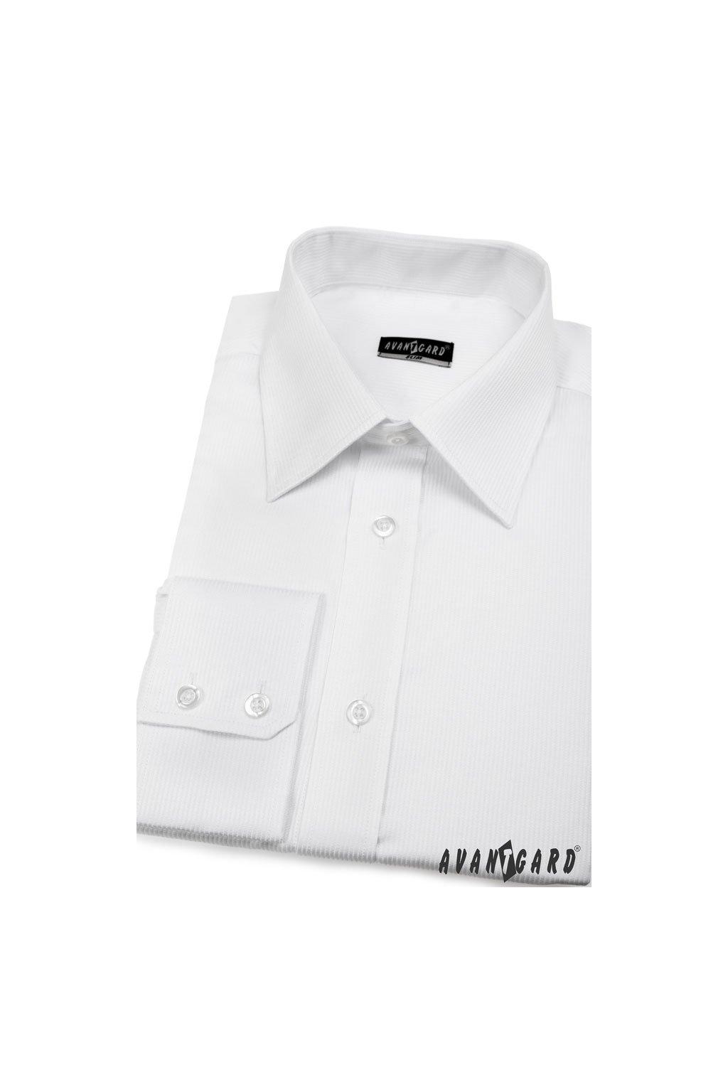 Pánská košile SLIM s dl.ruk. bílá 167 - 105
