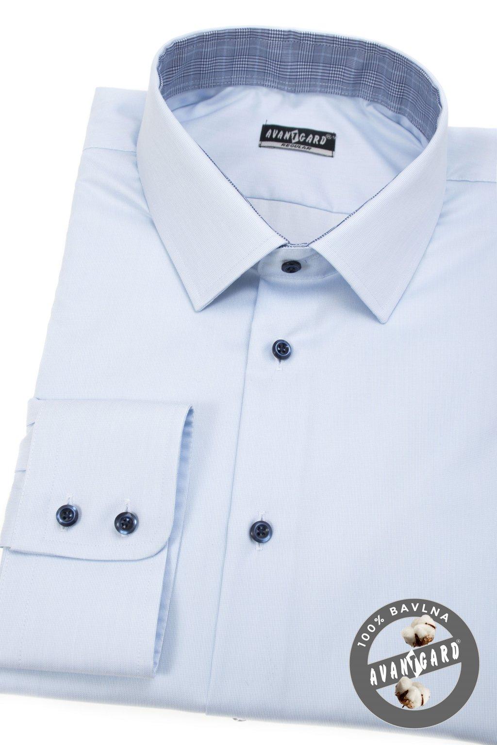 Pánská košile REGULAR modrá 207 - 4555