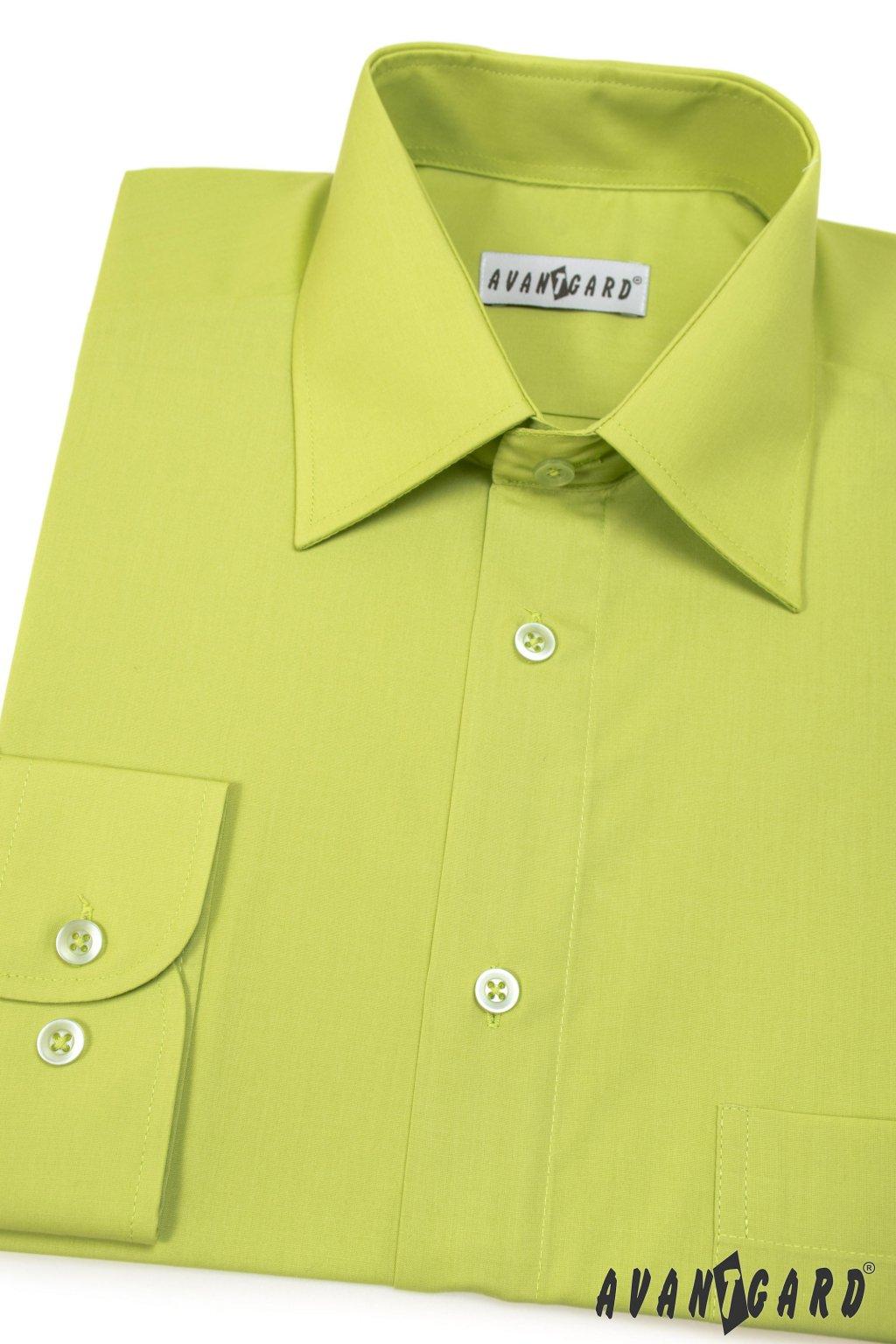 Pánská košile KLASIK s dl.ruk. kiwi - 30