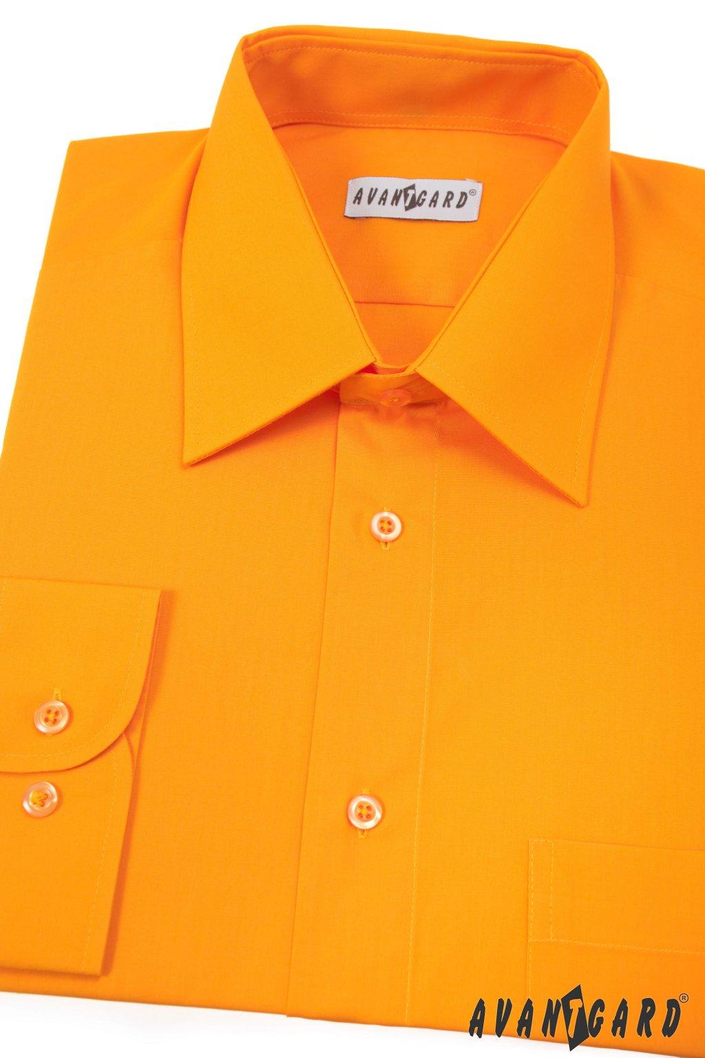 Pánská košile KLASIK oranžová 451 - 42