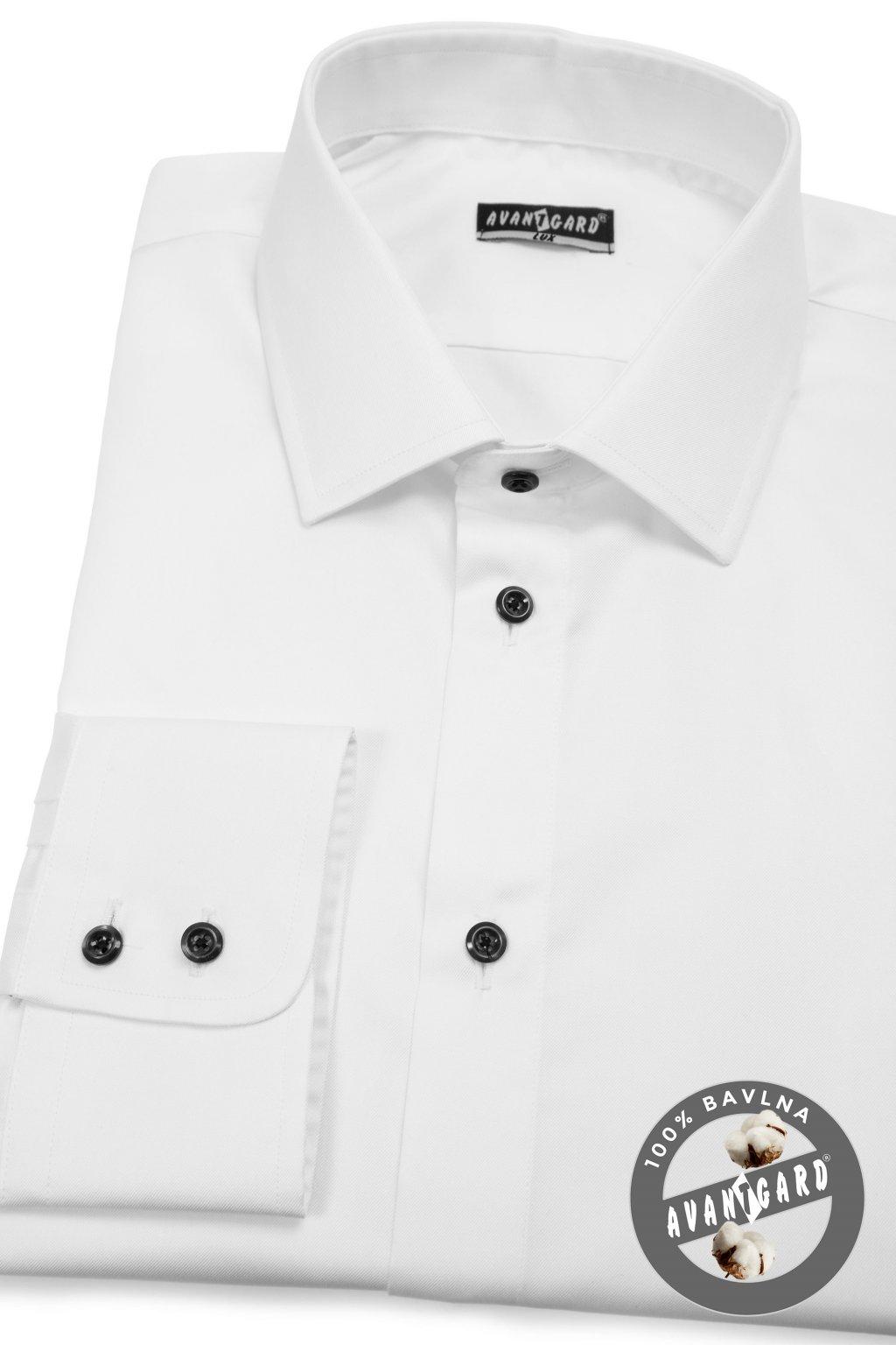Pánská košile KLASIK dl.rukáv bílá 509 - 0123