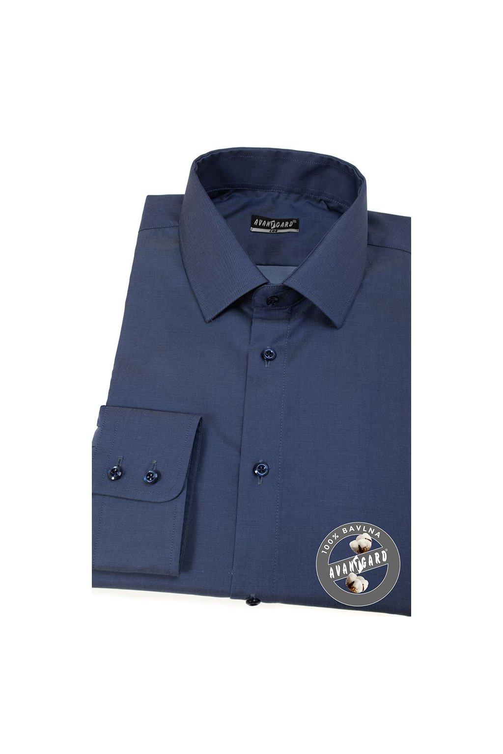 Pánská košile KLASIK dl.rukáv modrá 509 - 5505
