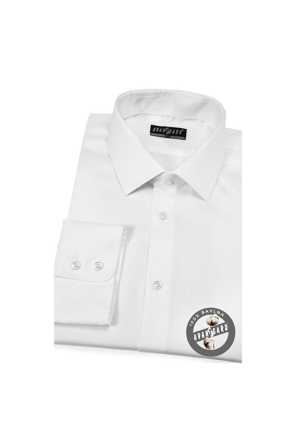 Pánská košile KLASIK bílá 509 - 91
