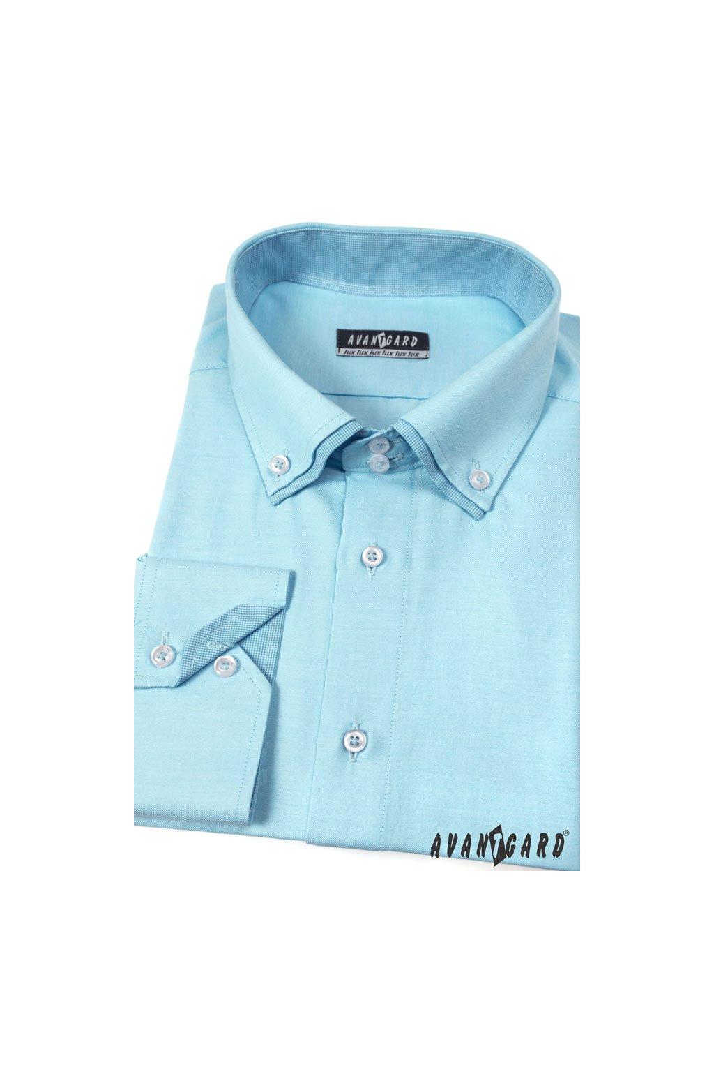Pánská košile LUX tyrkysová 526 - 2502
