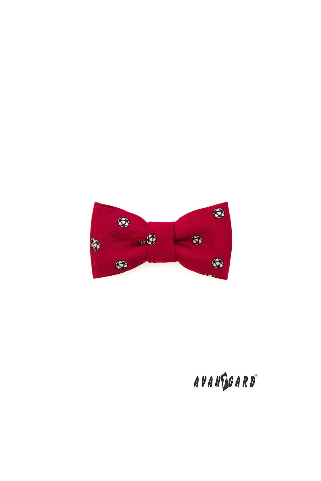 Motýlek MINI červená/fotbal 531 - 1889