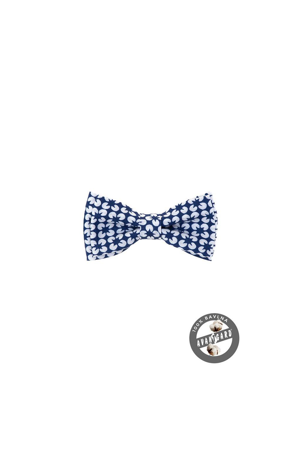 Motýlek MINI modro-bílá 531 - 5068