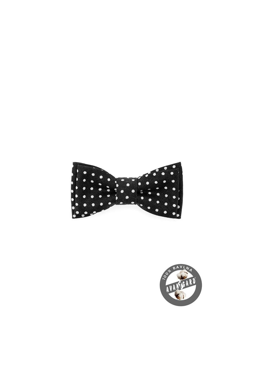 Motýlek MINI černá s bílým puntíkem 531 - 5120