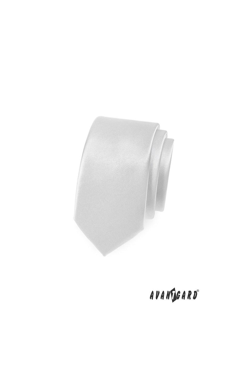 Bílá kravata Slim 551 - 721