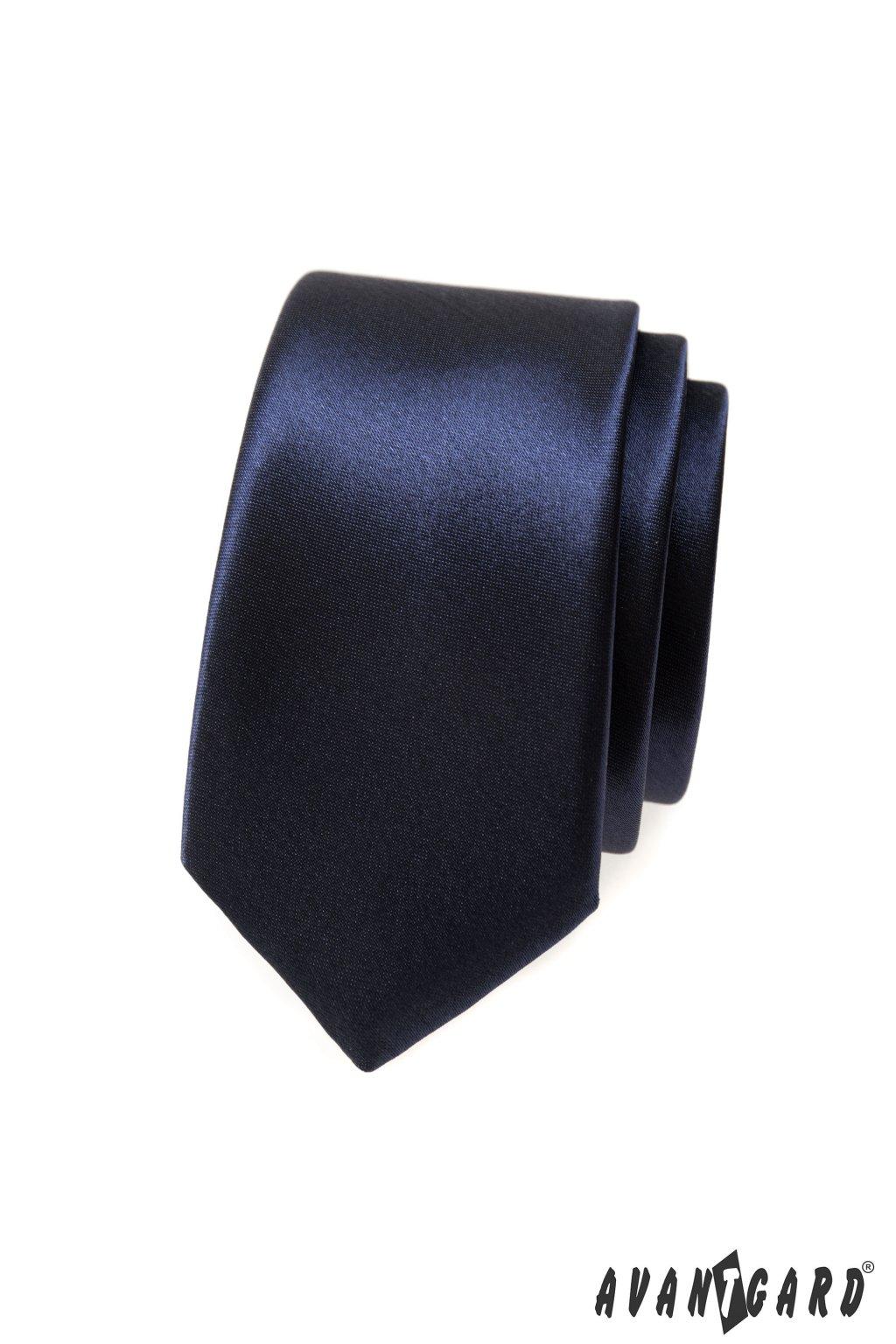 Modrá kravata Slim tmavá 551 - 765