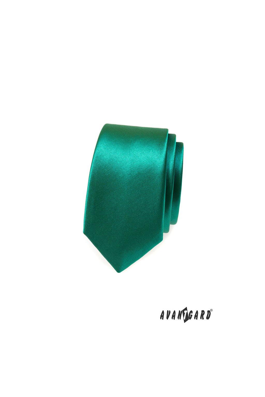 Zelená kravata Slim 551 - 787