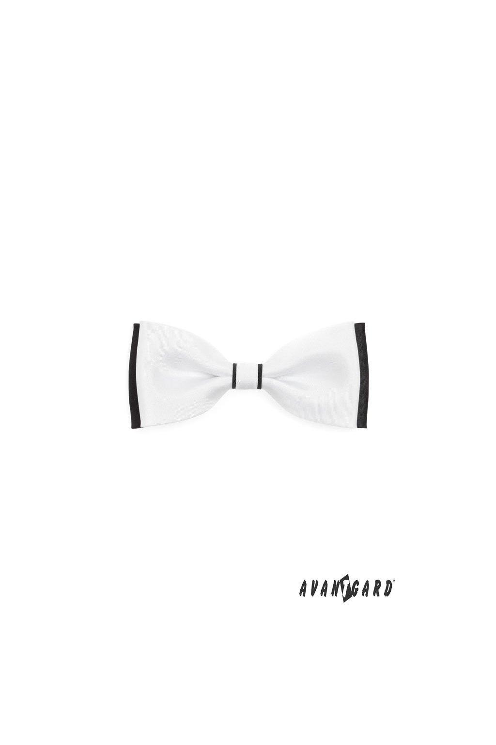 Pánský motýlek bílo-černý 553 - 123
