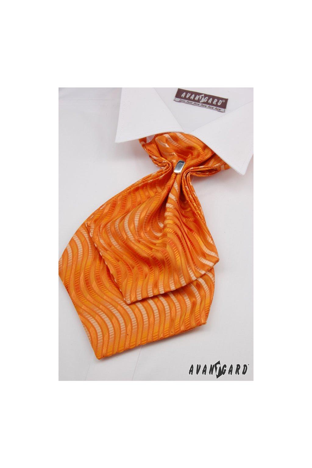 Plastron a kapesníček oranžová 554 - 71112